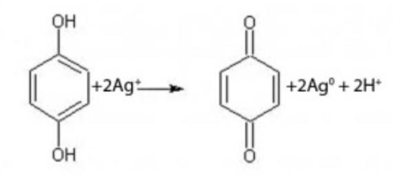 riduzione-ioni-argento-ad-opera-di-idrochinone