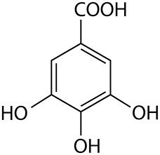 struttura acido gallico