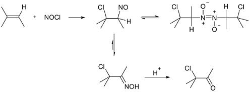 reazione con alcheni