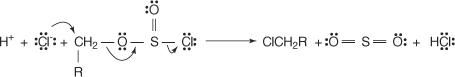 cloruro-di-tionile + alcol