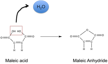 sintesi anidride maleica dall'acido maleico