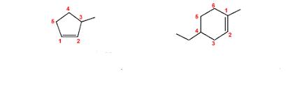 nomenclatura cicloalcheni