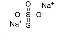 struttura sodio tiosolfato